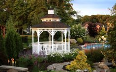 Be inspired to create the backyard of your dreams with the incorporation of an Amish Country Gazebo. Our Gazebo photos will inspire backyard ideas. Diy Gazebo, Backyard Gazebo, Garden Gazebo, Backyard Retreat, Ponds Backyard, Backyard Ideas, Gazebo Ideas, Pergola Kits, Zen Space