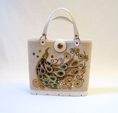antique purses | 60s Handbag Vintage Jeweled Peacock Purse by voguevintage on Etsy