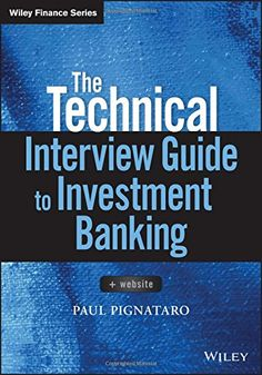 Accounting finance a pinterest collection by vlerick library e book the technical interview guide to investment banking paul pignataro available fandeluxe Gallery