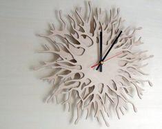 Modern wall clock  Coral