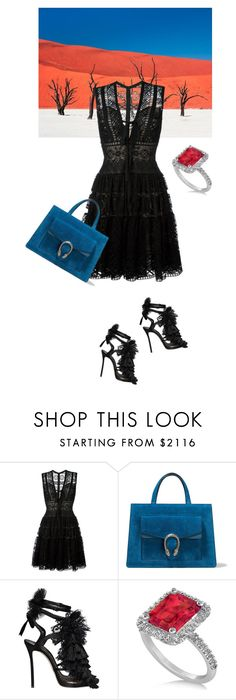 """""""Contrasts"""" by norathelemon ❤ liked on Polyvore featuring National Geographic Home, Elie Saab, Gucci, Dsquared2 and Allurez"""