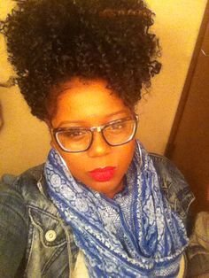 @curlzgonewild_  Love my crochet braids and LOVE red lips!! Freetress Water Wave. My natural hair journey. Protective style