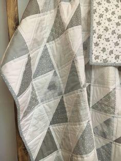 Modern gender neutral baby quilt