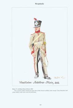 The Confederation of the Rhine - Westphalia: Plate 17. Artillery Train, Driver, 1812