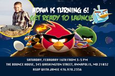 Angry Birds Birthday Party Invitation  by SleepingOwlCreations, $8.99