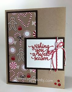 Candy Cane Lane Christmas designer series paper on sale - get it while you can!