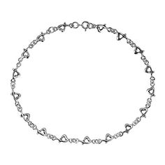 Love Intertwine Heart Link Sterling Silver Anklet * Read more reviews of the product by visiting the link on the image.