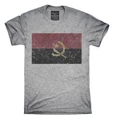 Retro Vintage Angola Flag T-Shirts, Hoodies, Tank Tops
