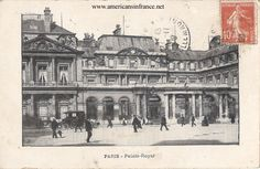 Palais-Royal in Paris from a postcard postmarked November 24th, 1909. Postcard is dated November 23rd.