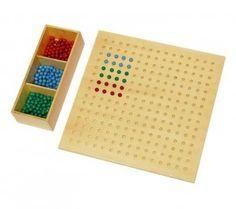 Multiplicar con el tablero Montessori