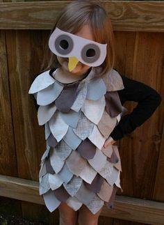 Disfraz de búho para niños #DIY