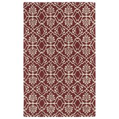 Kaleen Rugs Hand-tufted Runway Berry/ Ivory Wool Rug (5' x 7'9) (5'0 x 7'9), Red (Cotton, Geometric)