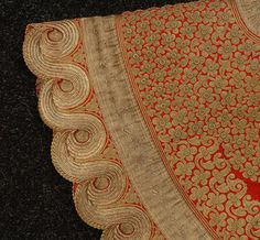 detail of embroidery vest Ottoman Empire 18th/ early 19th c