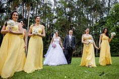 madrinhas vestido amarelo