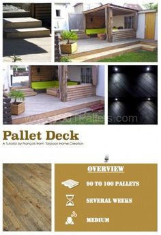 DIY Tutorial: Pallet Terrace Deck