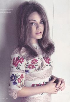 I want her eyebrows. Not to mention she has a really good 70s look.