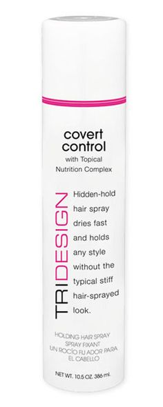Covert Control - hair spray with firm hold without being stiff.