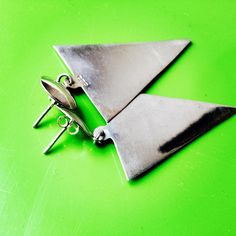 Triangle Earrings, Trance, 80s Fashion, Silver Earrings, Pop Culture, Colour, Photo And Video, Retro, Stuff To Buy