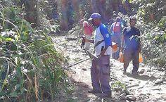 Suredeso limpió Camino Los Españoles, rumbo a la Peregrinación de la Virgen de Lourdes