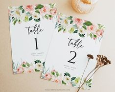 Wedding Table Numbers Floral Wedding Decor Table Number | Etsy