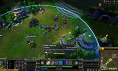 League of Legends is a Real-Time Strategy MMO Game based on the widely popular Defense of the Ancients mod for Warcraft 3.  http://mmoraw.com/index.php?option=com_content=article=213:league-of-legends=4:real-time-strategy-mmorts=5
