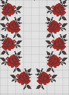 Одноклассники Cross Stitch Borders, Cross Stitch Rose, Cross Stitch Flowers, Cross Stitch Designs, Cross Stitch Patterns, Beaded Embroidery, Cross Stitch Embroidery, Embroidery Patterns, Granny Square Crochet Pattern