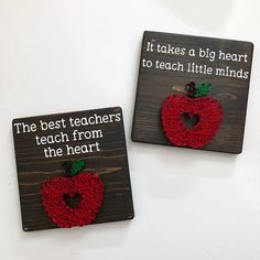Teacher Apple String Art Teacher Gift
