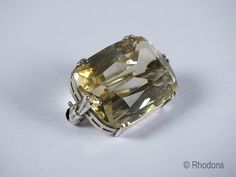 Antique Silver Mounted Citrine Brooch