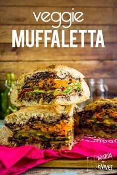 veggie muffaletta • vegan picnic food | #veggie #muffaletta #vegan #dinner #food #recipe #foodporn