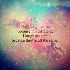 Wonderful #quote#differen#allthesame