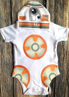 In the event we don't find a BB8 costume for Halloween lol BB8 Bodysuit Newborn Outfit BB8 OnePiece Newborn by retrostate