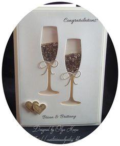 My Visual Poetry: Wedding Shaker Card . My Visual Poetry: Wedding Shaker Card Plus. Handmade Greetings, Greeting Cards Handmade, Love Cards, Diy Cards, Wedding Anniversary Cards, Handmade Anniversary Cards, Card Wedding, Boho Wedding, Happy Anniversary