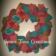 Rustic Rose custom wreath