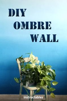 Learn how to get a smooth transition between colors and create a beautiful ombre wall. #Instructables #home #decorating #painting #renovation Diy Ombre, Painted Trays, Paint Drying, Diy Furniture Projects, Paint Splatter, Home Reno, Masking Tape