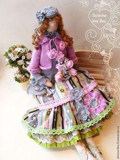 Купить Тильда : Леди Полет - серый, тильда, тильда кукла, тильды