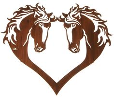 Horse Heart Wall Art www.rusticeditions.com