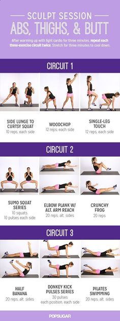 Printable Workout Infographic: Sculpt Session For Abs and Glutes