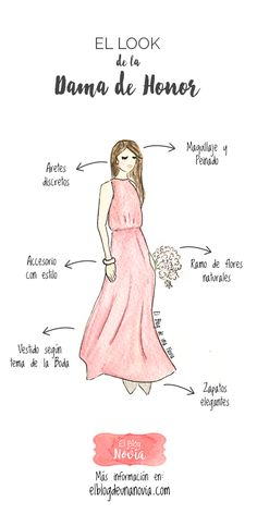 El look de la Dama de Honor | El Blog de una Novia | #damasdehonor