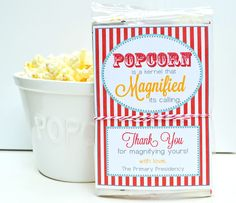 Popcorn LDS Teacher Thank You!
