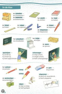Learning Dutch - at school Dutch Language, Language Study, Learn Dutch, Speech Language Therapy, Creative Teaching, Humor, Months In A Year, Primary School, Netherlands