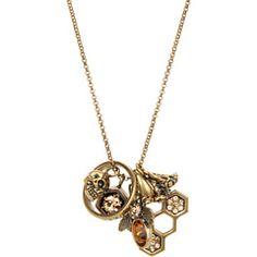 Alexander McQueen Skull and Bee Charms Pendant
