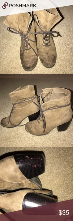 Booties I bought these looking distressed, only minor scuffing on the heels but other than that they are in mint condition. Daytrip Shoes Ankle Boots & Booties