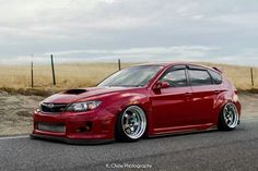 Subaru impreza wrx sti hatchback slammed