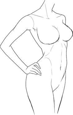 服のシワの描き方メイキング | いちあっぷ【2021】 | 線画アート, 描き方, スケッチのテクニック Drawing Body Poses, Body Reference Drawing, Art Reference Poses, Female Drawing, Fashion Illustration Poses, Fashion Illustration Template, Body Sketches, Art Drawings Sketches Simple, Outline Art