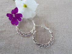 $30 Classy Sterling Silver or 14Kt Gold Filled Braided Hoop