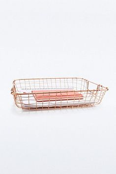 Cabo Copper Letter Basket - Urban Outfitters