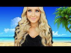 EASY Voluminous Beachy Curls! by Lauren Curtis. Amazing girl!