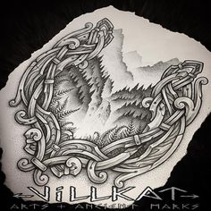 Again I've been super inspired by the Breathtaking landscape of Norway thankyou for the immense inspiration .....#forest #mountains #waterfall #nature #nordic #norse #nordicart #norseknotwork #villkattattoo #villkat #villkatarts #viking #vikings #vikingart #vikingnation #dotwork #dotsnpatterns #celtic #celtictattoo #knotwork #celticknotwork #artofthenorth #knotworktattoo #vikingtattoo #theoldways #dotwork #vikingsunite #pagan #paganart #ancientmarks