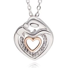 Beautiful silver plated Mother and Child pendant $18 Free post