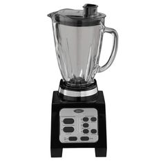 Features:  Product Type: -Countertop Blender.  Color: -Black and grey.  Jar Material: -Glass.  Lid Material: -Plastic.  Base Material: -Plastic.  Dishwasher Safe: -Yes. Dimensions:  Overall Height - T